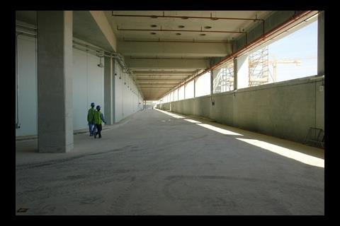 The entire city is built on a 7m high concrete podium
